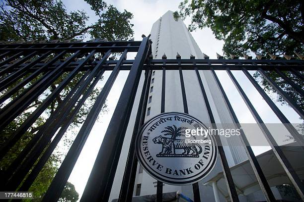 The Reserve Bank of India headquarters stands in Mumbai India on Friday Aug 23 2013 Indias rupee plunged 44 percent to a record this week in its...