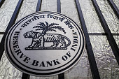 The Reserve Bank of India logo is displayed on a gate outside the central bank's headquarters in Mumbai India on Tuesday April 5 2016 India's central...