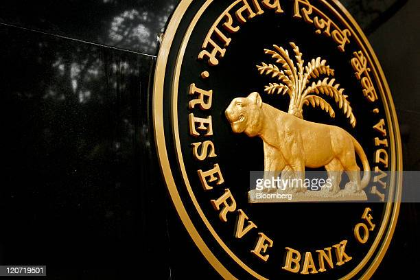 The Reserve Bank of India logo is displayed outside of the bank's headquarters in Mumbai India on Tuesday Aug 9 2011 India's 10year bonds rose...