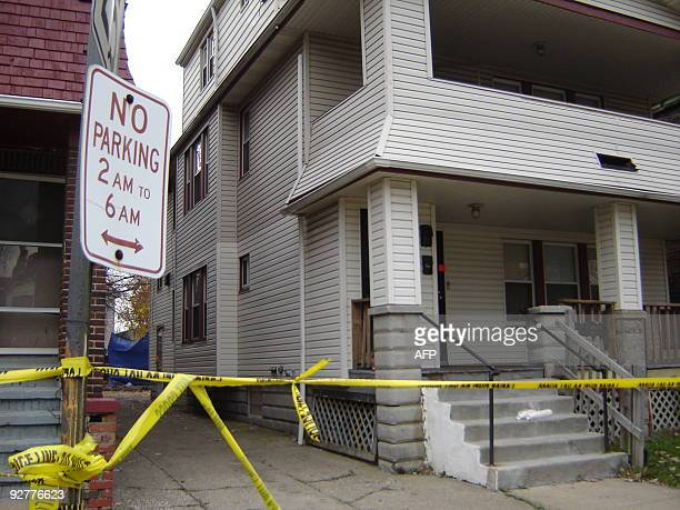 The residence of 50yearold convicted rapist and alleged serial killer Anthony Sowell is sealed off with police tape on November 4 2009 in Cleveland...