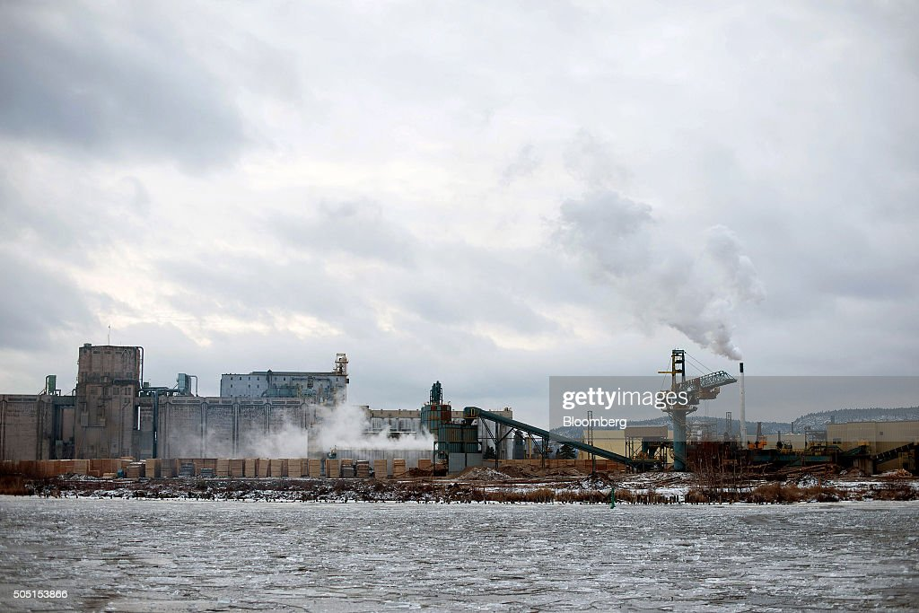 The Resolute Forest Products mill stands across the Mission River in Thunder Bay Canada Ontario on Tuesday Jan 5 2016 Resolute Forest Products the...