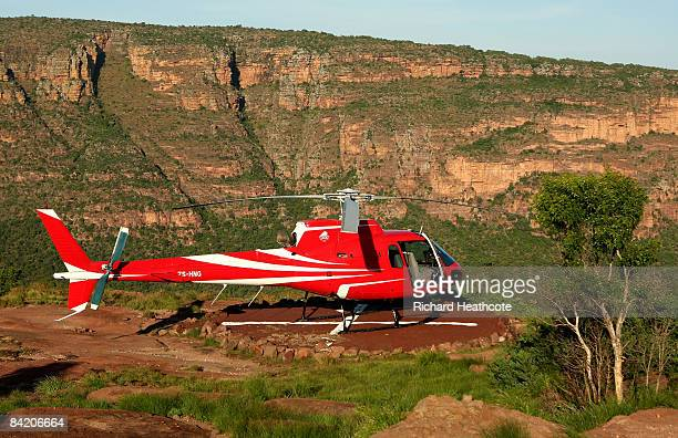 The Resort Helicopter sits up near the tee to the Extreme 19th hole Par 3 631m long where the tee is at the top of Hanglip mountain and the green is...