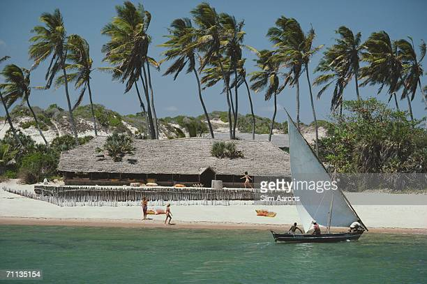 The resort of Kiwayu Mlango wa Chanu in the Lamu Archipelago of Kenya February 1987 The resort is run by Governors' Camp of the Masai Mara