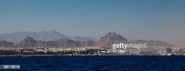 The resort of Naama Bay is seen in this panoramic view on October 27 2013 on the Red Sea at the resort town of Sharm El Sheikh Egypt Sharm elSheikh...