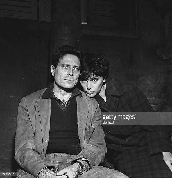 'The rest of the warrior' of Raf Vallone Production Jean Mercure Raf Vallone and Francoise Prevost Paris theatre of Paris November 1961 LIP162047003
