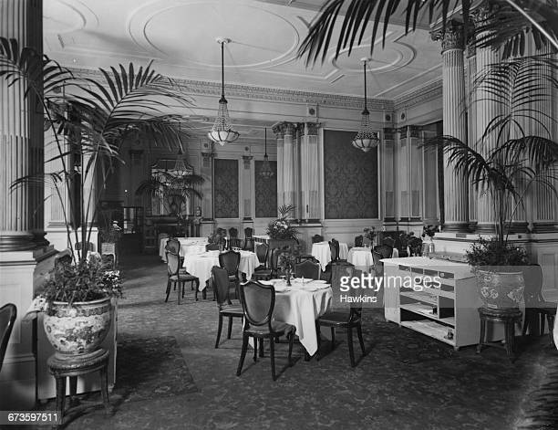 The restaurant at the Hyde Park Hotel in Knightsbridge London 22nd April 1925