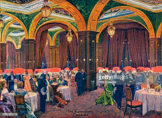 The Restaurant Claridges c19th century From The Connoisseur 1905 [Otto Limited London 1905] Artist Max Cowper