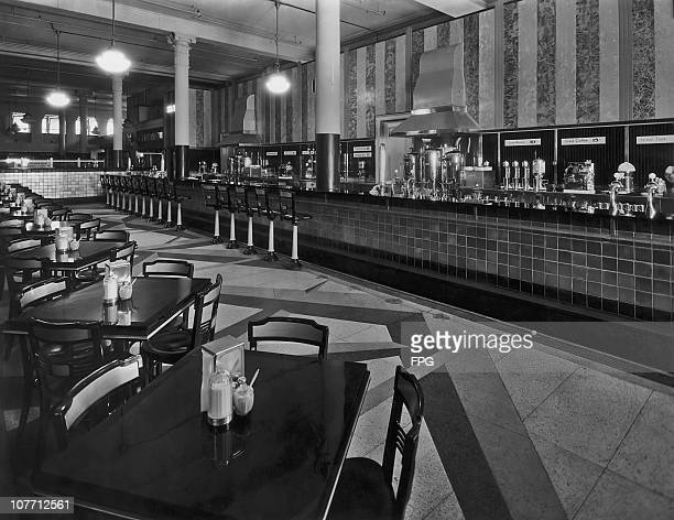 The restaurant on the first floor of Bloomingdale's department store in New York City circa 1960