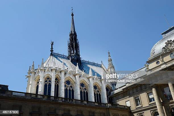 the restoration of the stained glasses of the Sainte Chapelle in Paris The monument after the restoration on June 8 2015