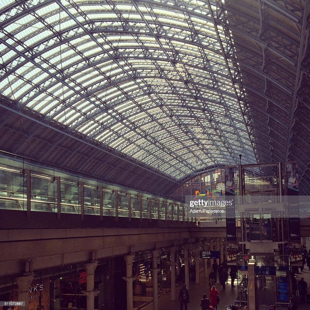 The restored Victorian roof at London St Pancras railway station