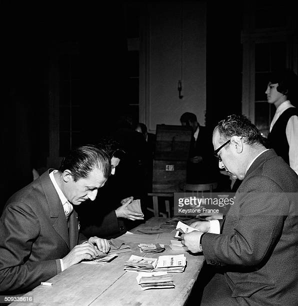 The Results Of the Referendum About The Independence Of Algeria Are Centralized At the Ministry Of Interior in Paris France on April 8 1962