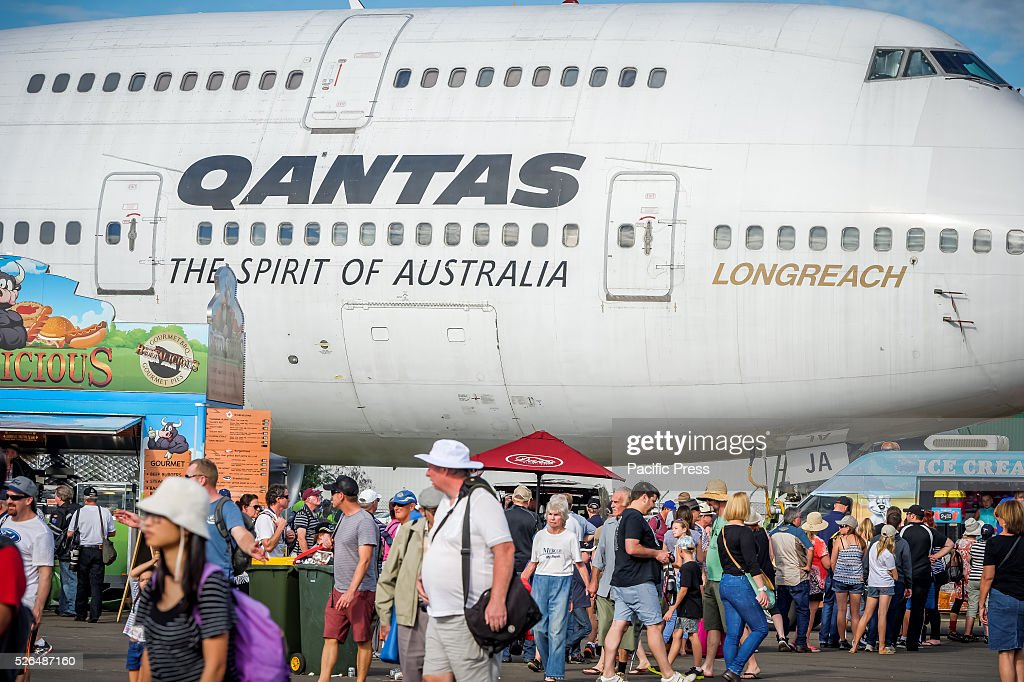 The retired Qantas 747-400 formed a major attraction at the annual 'Wings Over Illawarra' Airshow at the Illawarra Regional Airport.