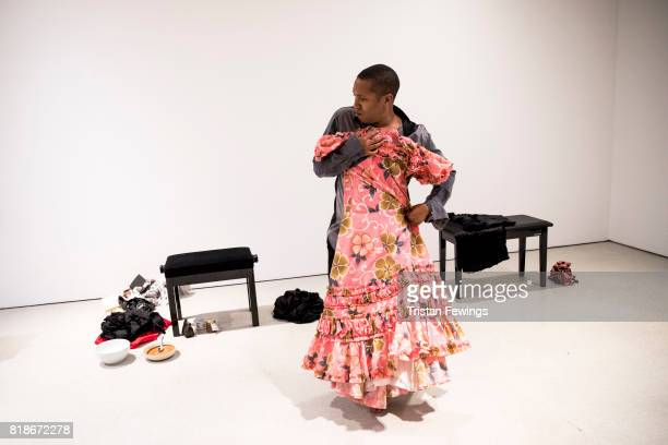 The Return of La Argentina is performed at Trajal Harrell Hoochie Koochie A performance exhibition at Barbican Art Gallery on July 18 2017 in London...