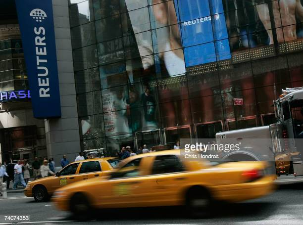 The Reuters building in Times Square is seen May 4 2007 in New York City According to reports Thomson Corp has made a take over offer for the British...