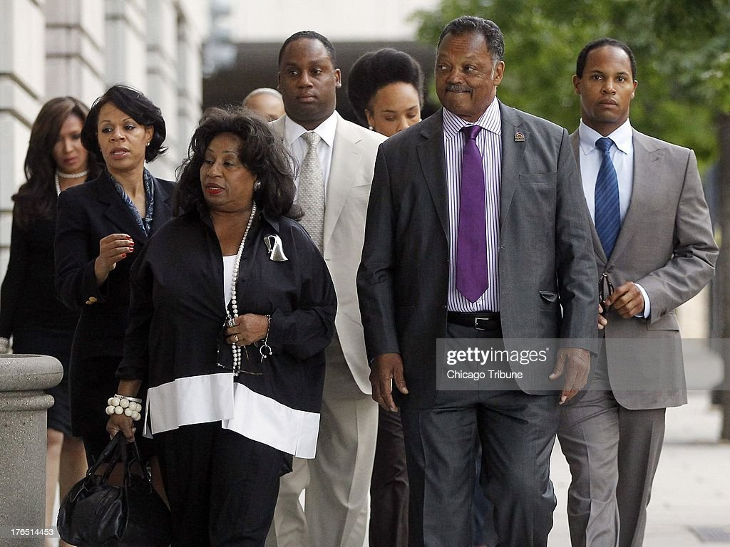 The Rev. Jesse Jackson arrives at the federal courthouse in Washington, DC, for a sentencing hearing of his son Jesse Jackson Jr. on Wednesday, August 14, 2013.