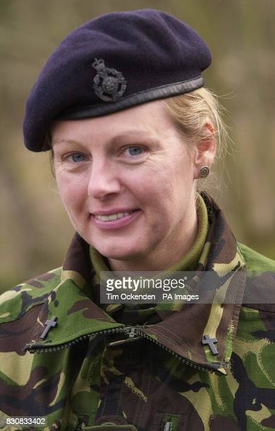 The Rev Juliette Hulme who has recently hung up her cassock and donned the uniform of an Army captain to become the first serving female chaplain at...
