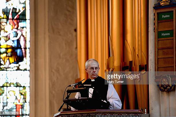 The Rev Justin Welby the Archbishop of Canterbury gives The Address to a congregation of Members of Parliament and civil servants working in...