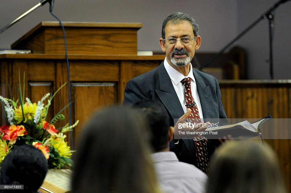 The Rev Raouff Ghattas preaches at the morning service that was the first day officially of the new Arabic Baptist Church The Southern Baptist Church...