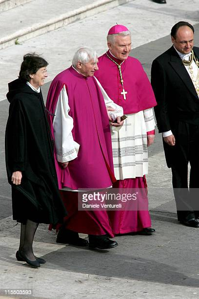 The Reverend Georg Ratzinger brother of Pope Benedict XVI