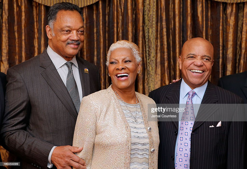 The Reverend Jesse Jackson, singer <a gi-track='captionPersonalityLinkClicked' href=/galleries/search?phrase=Dionne+Warwick&family=editorial&specificpeople=213111 ng-click='$event.stopPropagation()'>Dionne Warwick</a> and record producer and founder of Motown Records Berry Gordy attend The 16th Annual Wall Street Project Economic Summit - Day 1 at The Roosevelt Hotel on January 31, 2013 in New York City.
