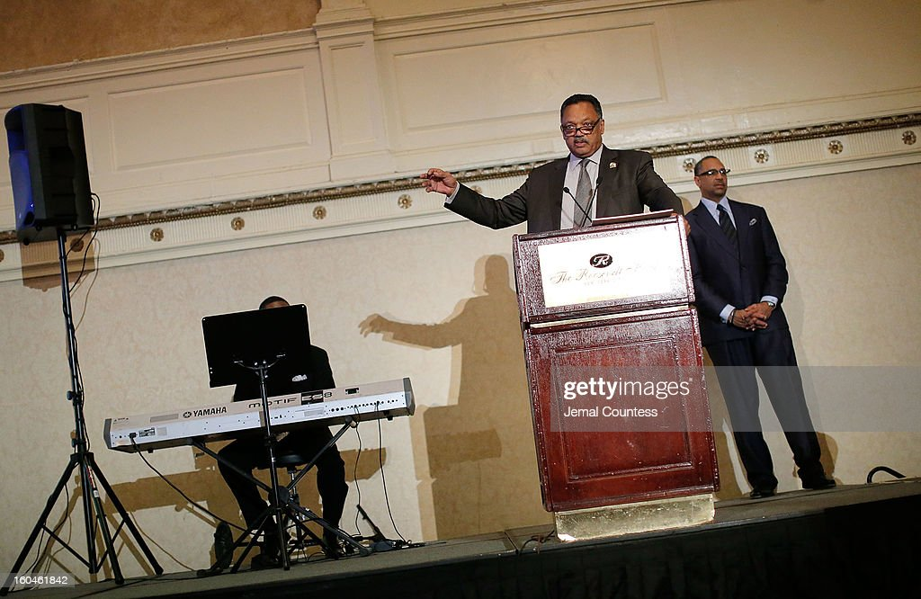 The Reverend Jesse Jackson speaks onstage during The 16th Annual Wall Street Project Economic Summit - Day 1 at The Roosevelt Hotel on January 31, 2013 in New York City.