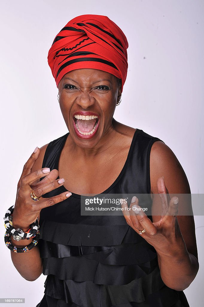 The Reverend Mpho A.Tutu poses for a portrait backstage at the 'Chime For Change: The Sound Of Change Live' Concert at Twickenham Stadium on June 1, 2013 in London, England. Chime For Change is a global campaign for girls' and women's empowerment founded by Gucci with a founding committee comprised of Gucci Creative Director Frida Giannini, Salma Hayek Pinault and Beyonce Knowles-Carter.