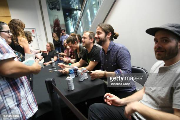 The Revivalists signs for fans at Spotlight The Revivalists at The GRAMMY Museum on June 27 2017 in Los Angeles California