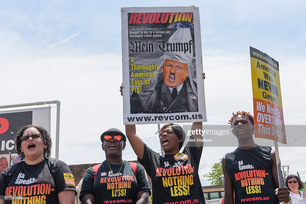 Revolutionary Communist Party protests at RNC 2016 in Cleveland