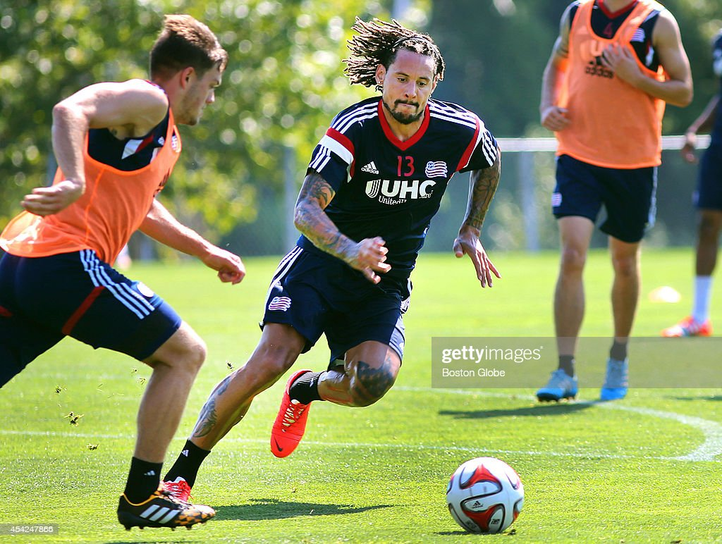 The Revolution's newest player Jermaine Jones practiced with the team for the first time