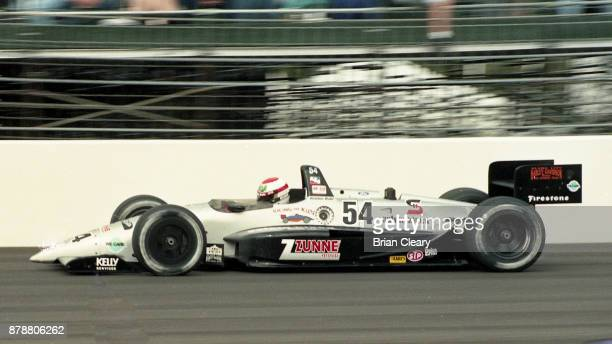 The Reynard Cosworth of Robbie Buhl drives on the track during the Indy 200 Indy Racing League IRL race at Walt Disney World Speedway Speedway on...