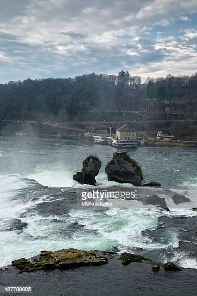 The Rhine Falls near Schaffhausen, Canton of Schaffhausen, Switzerland