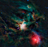 The Rho Ophiuchi cloud complex. The Rho Ophiuchi cloud is found rising above the plane of the Milky Way in the night sky, bordering the constellations Ophiuchus and Scorpius. It's one of the nearest s