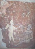 The Rich Man in Gehenna Fire 1313 Artist Ancient Russian frescos
