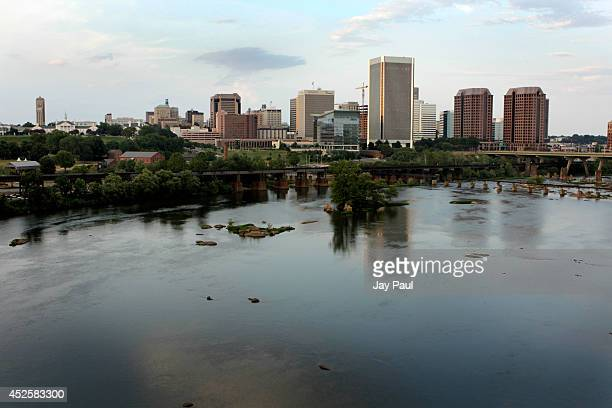 The Richmond skyline is viewed from across the James River on July 23 2014 in Richmond Virginia According to a new study from the US National Bureau...