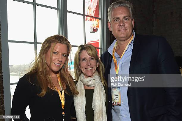 The Ridgefield Playhouse's Allison Stockel guest and The Agency Group's Gavin O'Reilly attend the Agency Group Party during Pollstar Live 2015 at...
