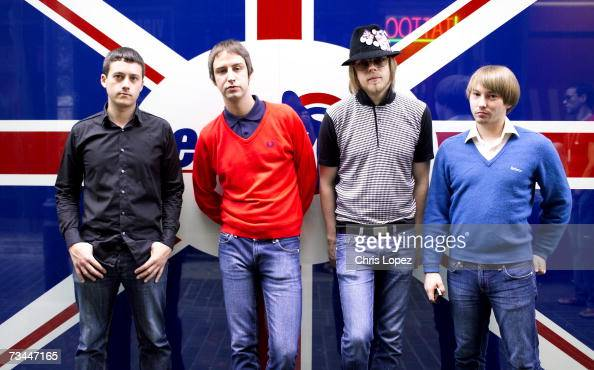 The Rifles posing for press shoot in Soho London 01/09/05 From left to right Rob Pyne Joel Stoker Lucas Crowther Grant Marsh