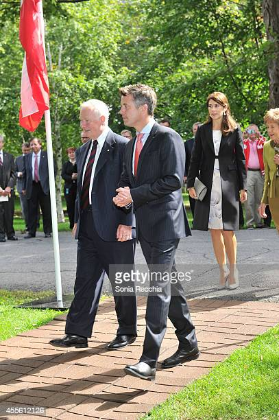 The Right Honourable David Johnston Governor General of Canada Crown Prince Frederik And Crown Princess Mary Of Denmark and Mrs Sharon Johnston...