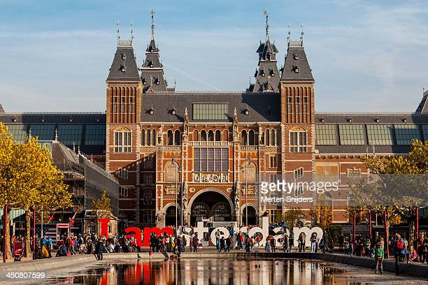 The Rijks Museum and IAMSTERDAM sign