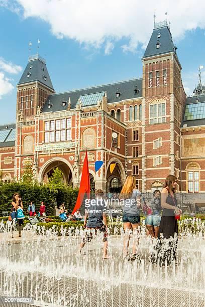 The Rijksmuseum garden with fountain