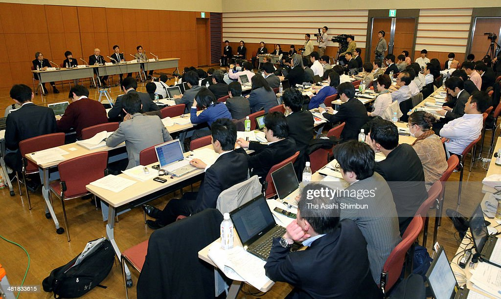 The Riken national research institute President Ryoji Noyori and other Riken officials attend a news conference on April 1, 2014 in Tokyo, Japan. The Riken found evidence of misconduct in supposedly groundbreaking studies on stem cells that had brought worldwide acclaim to one of its scientists. An investigative committee was set up after irregularities were pointed out in articles published by stem-cell biologist Haruko Obokata in the prestigious British science journal Nature in late January.
