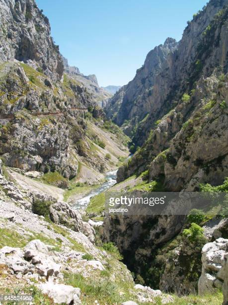 The Rio Cares that runs between the province of Leon and Asturias in the Picos de Europa