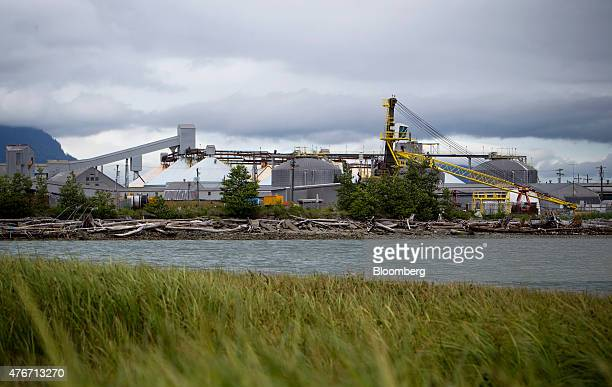 The Rio Tinto Alcan Inc smelter facility stands in Kitimat British Columbia Canada on Friday June 5 2015 Canadian stocks rose a second day as...