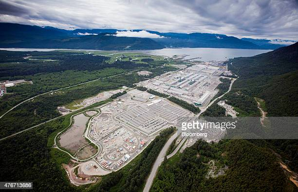 The Rio Tinto Alcan Inc smelter facility stands in this aerial photograph taken near Kitimat British Columbia Canada on Saturday June 6 2015 Canadian...