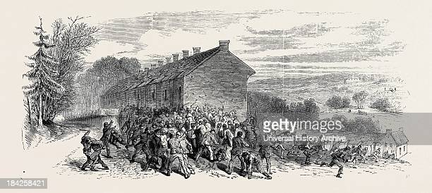 Police Charging The Mob 1870