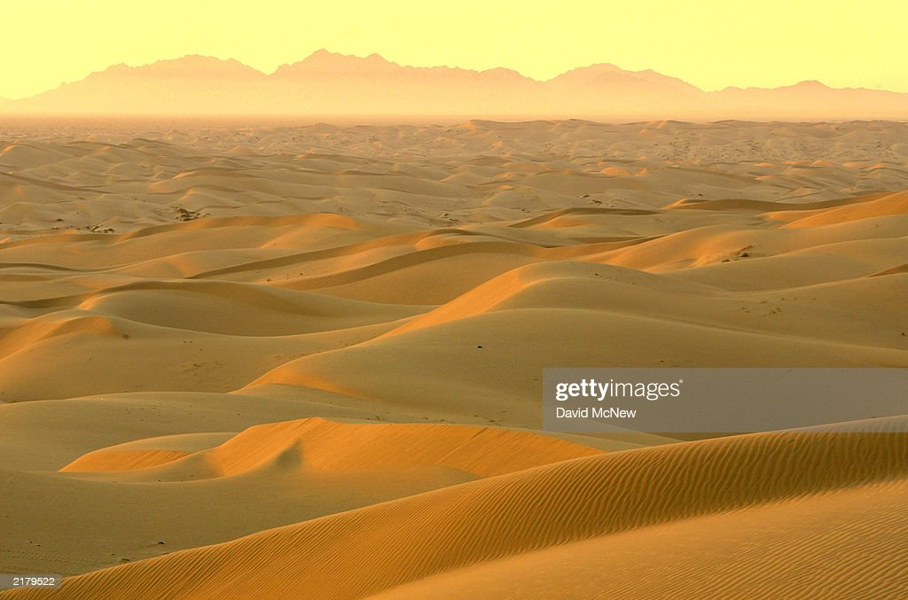 The rising sun illuminates the Algodones Dunes also known as the Imperial Dunes or American Sahara on July 20 near Glamis California in the Colorado...