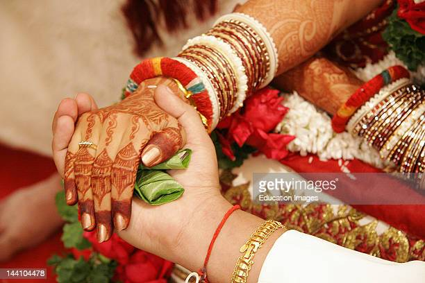 The Ritual Called 'Hastmelap' Being Performed During An Indian Gujarati Wedding Hastmelap Is A Ritual In Which The Bride Father Gives His Daughter'S...