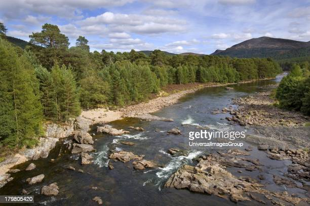 The River Dee from Invercauld Bridge Aberdeenshire Scotland United Kingdom