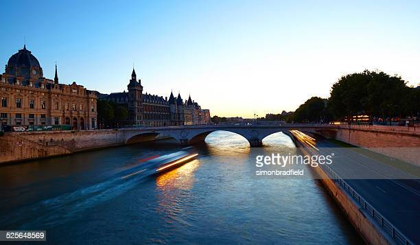 The River Seine And Paris By Night