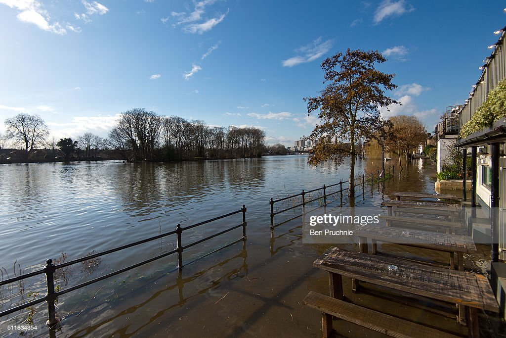 The Thames Floods In Central London