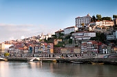 The riverbank Duero River in Porto.